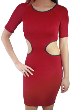 side cutout dress