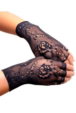 Fingerless Net Gloves