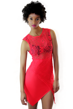 Asymmetrical Crochet Dress