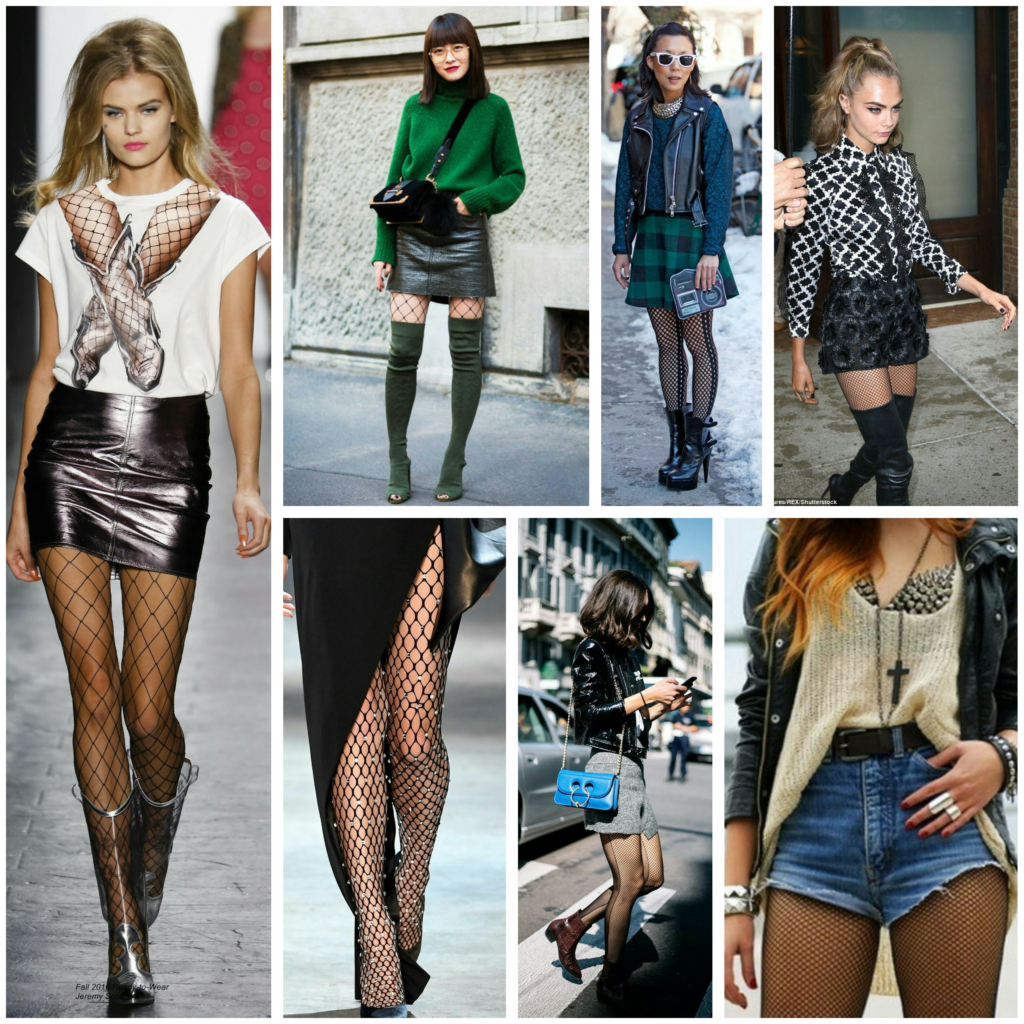 Fishnet Trends, how to wear fishnets