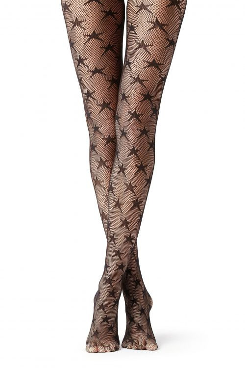 lucky star fishnets get noticed
